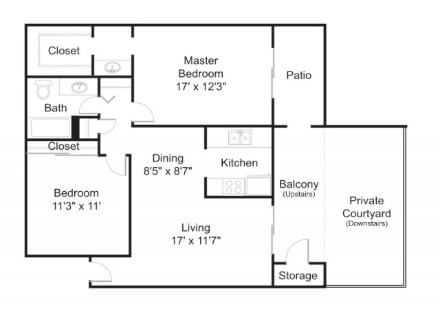 Floor Plan 3 | Tucson Apartments | Brookwood