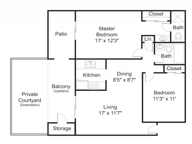 Floor Plan 4 | Apartments In Tucson | Brookwood
