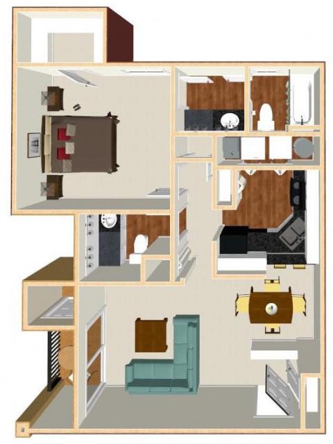 Floor Plan 24 | Apt For Rent Orlando | Auvers Village