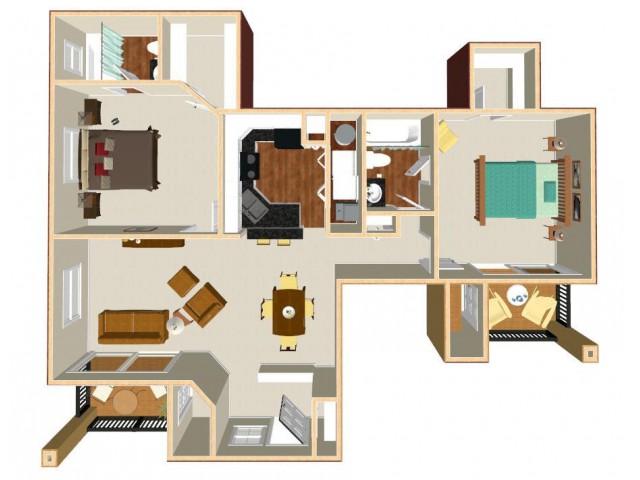 Floor Plan 5 | Apt For Rent In Orlando | Auvers Village