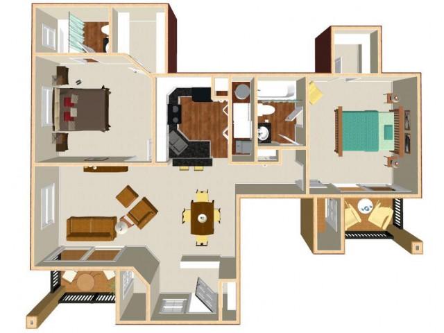 Floor Plan 8 | Apt For Rent In Orlando FL | Auvers Village