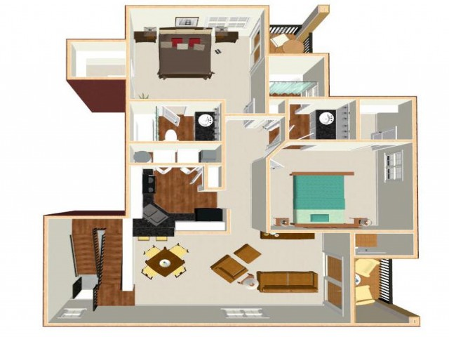 Floor Plan 9 | Apartments In Orlando FL | Auvers Village
