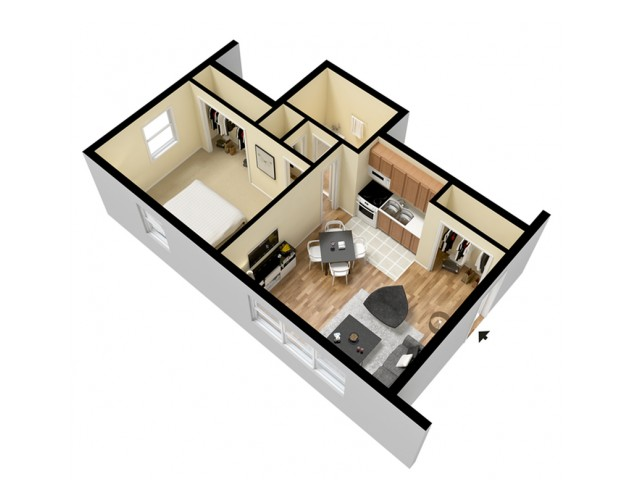 Floor Plan 2 | Mount Prospect Illinois Apartments | The Residences at 1550