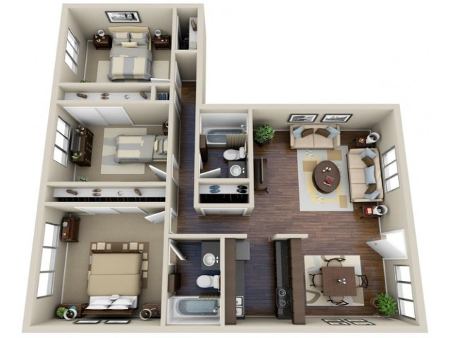 Floor Plan 1 | Terraces on the Parkway