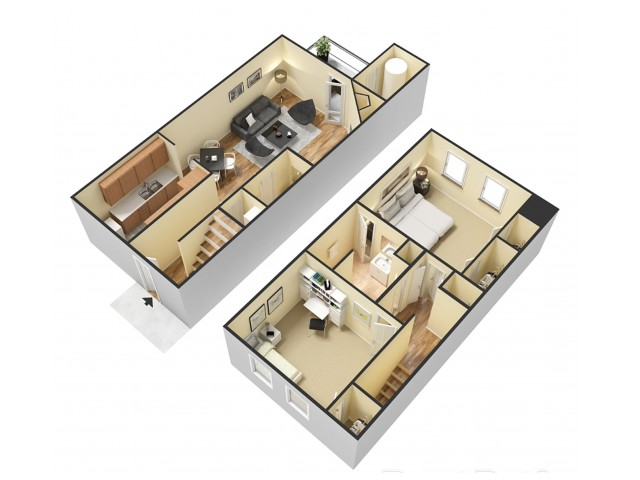 Floor Plan 3 | North Charleston Rentals South Carolina | Plantation Flats