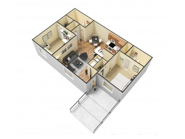 Floor Plan 2 | Apartments In North Charleston SC | Plantation Flats