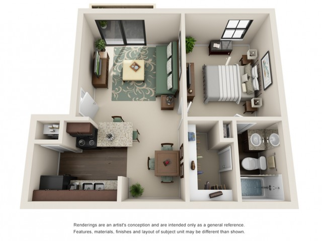 Studio Floor Plan | Woodforest Apartments in Houston | Timber Run
