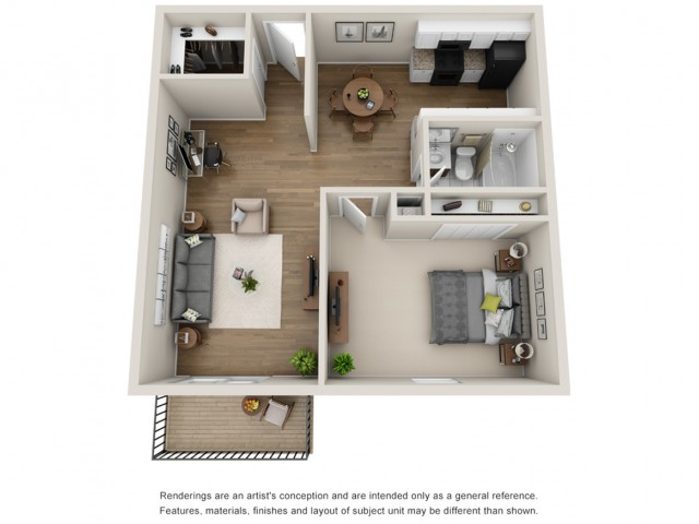 Floor Plan 4 | Apartments for Rent Mt Prospect Il | The Residences at 1550