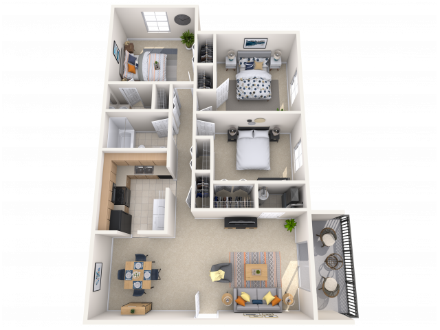 3 Bedroom, 1.5 Bath