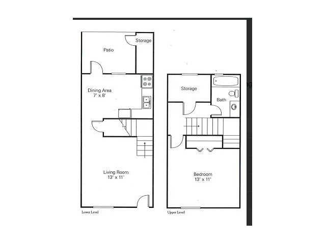1 Bdrm Floor Plan  in Charlotte | Arcadian Village