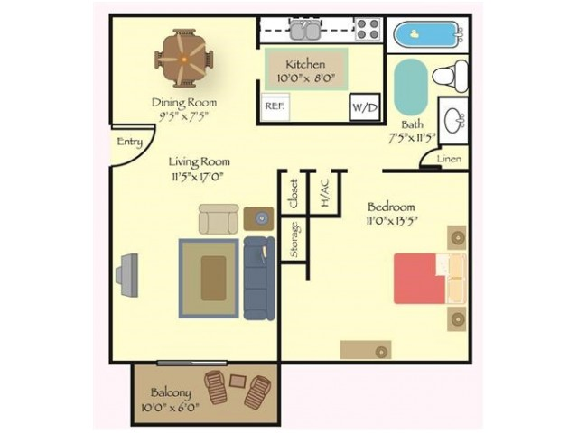 Floorplan 1 | Reserve at Cavalier