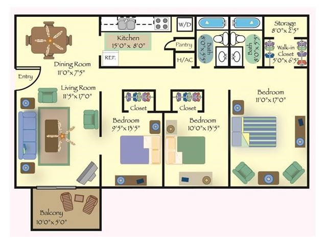 Floorplan 3 | Reserve at Cavalier