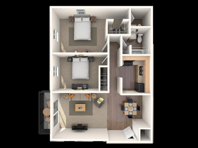 2 Bedroom 1.5 Bathrooms