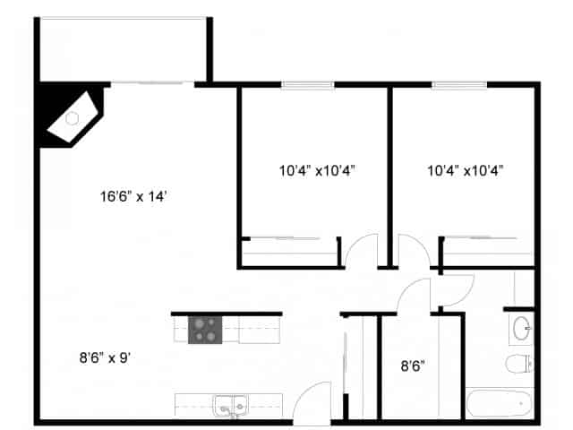 Floor Plan 2 | Eagan MN Apartments | Lexington Hills