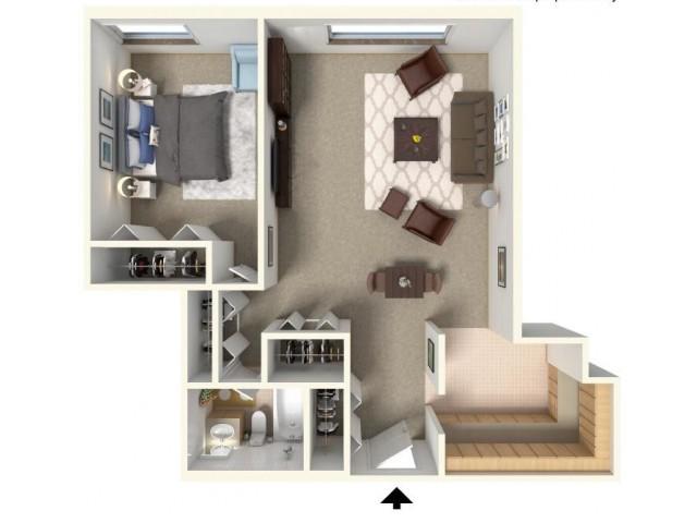 Floor Plan 1  | Bartlett Lake Apartments