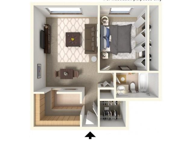 Floor Plan 2  | Bartlett Lake Apartments