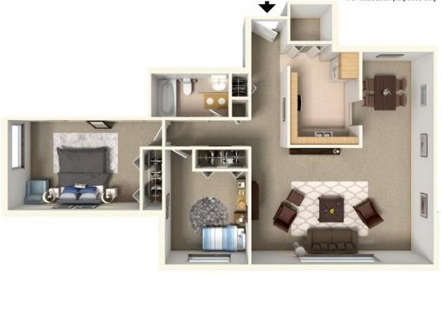 Floor Plan 3  | Bartlett Lake Apartments