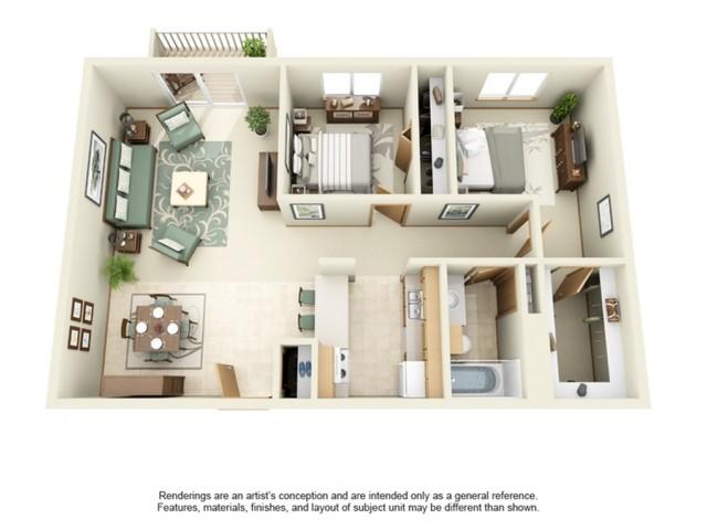 White Pines | 2 Bedroom