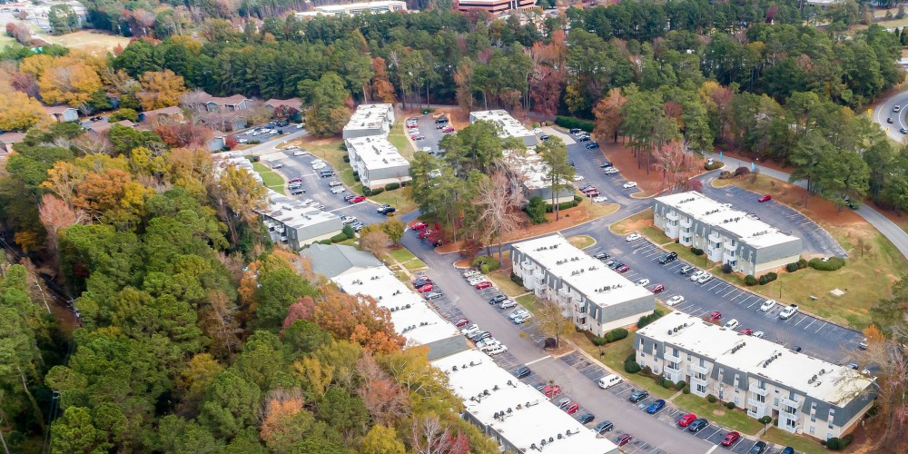 Aerial View of Peachtree Place