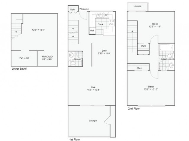 Palazzo Townhome | Apartment in Maryland Heights | One Bedroom Townhome