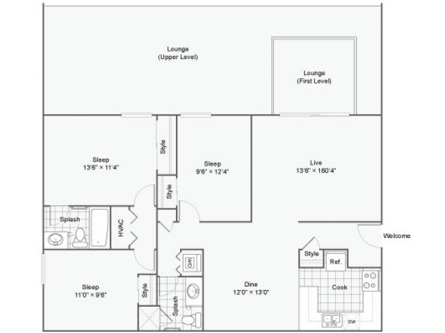 Valentino |  Apartment in Maryland Heights | Three Bedroom