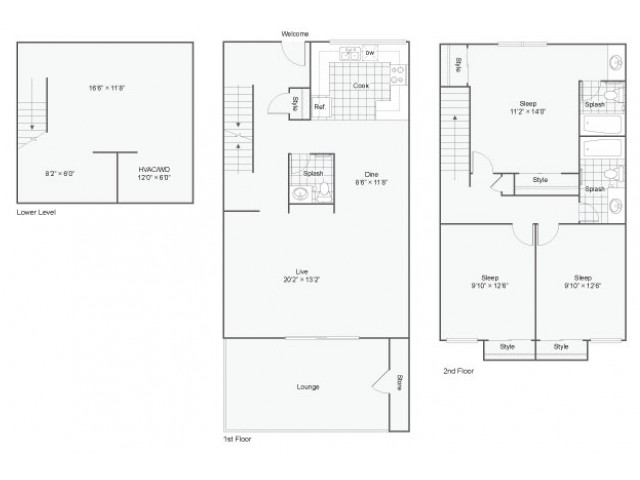 Buckingham Townhomes |  Apartment in Maryland Heights | Three Bedroom Townhome