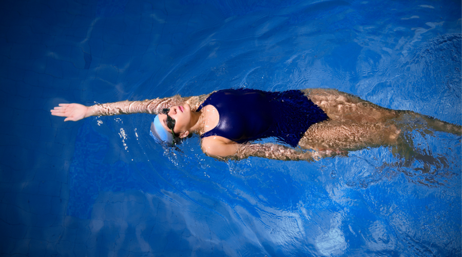 Swimming for Exercise in the Community Pool-image