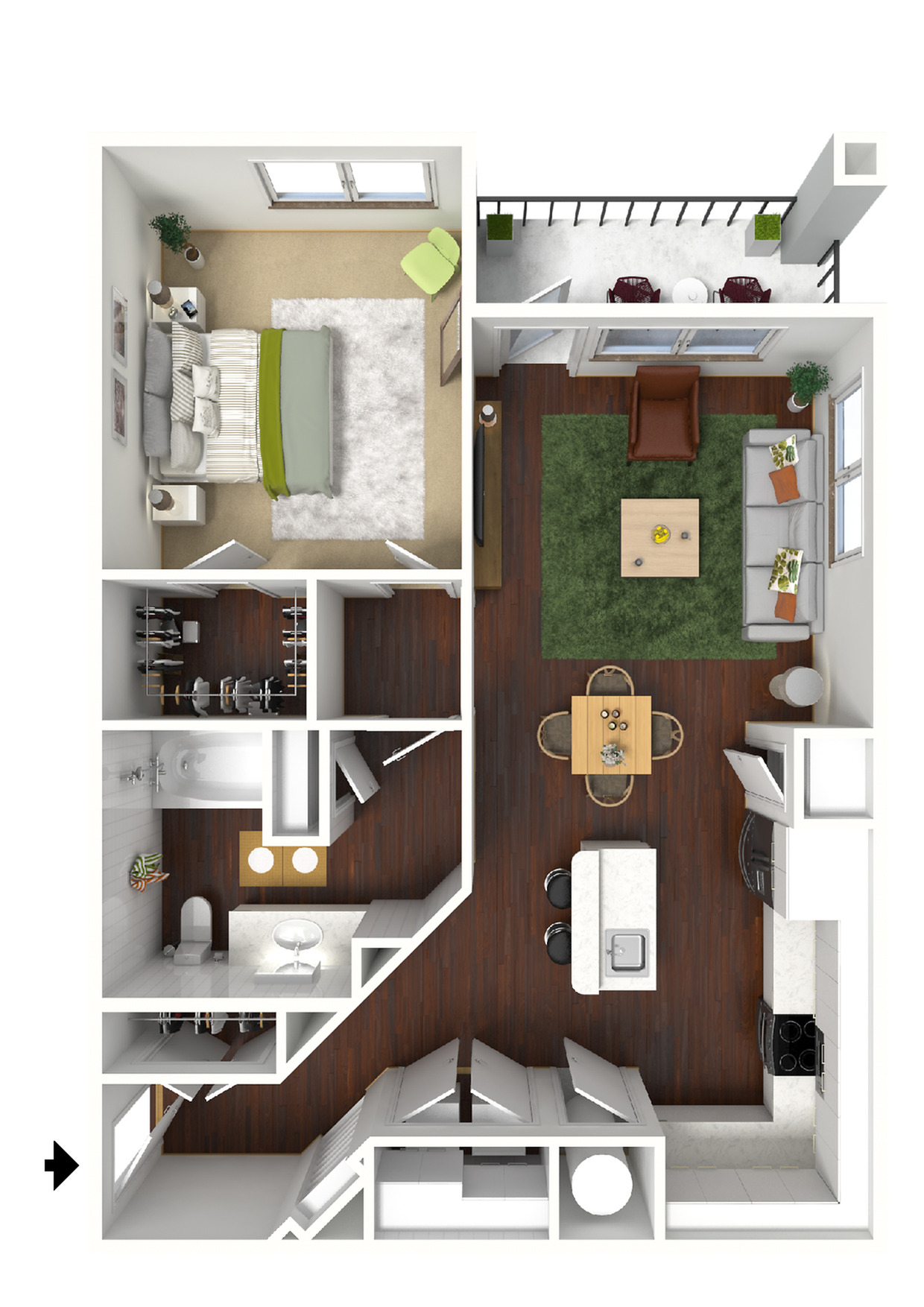 Winlock 3D Furnished View