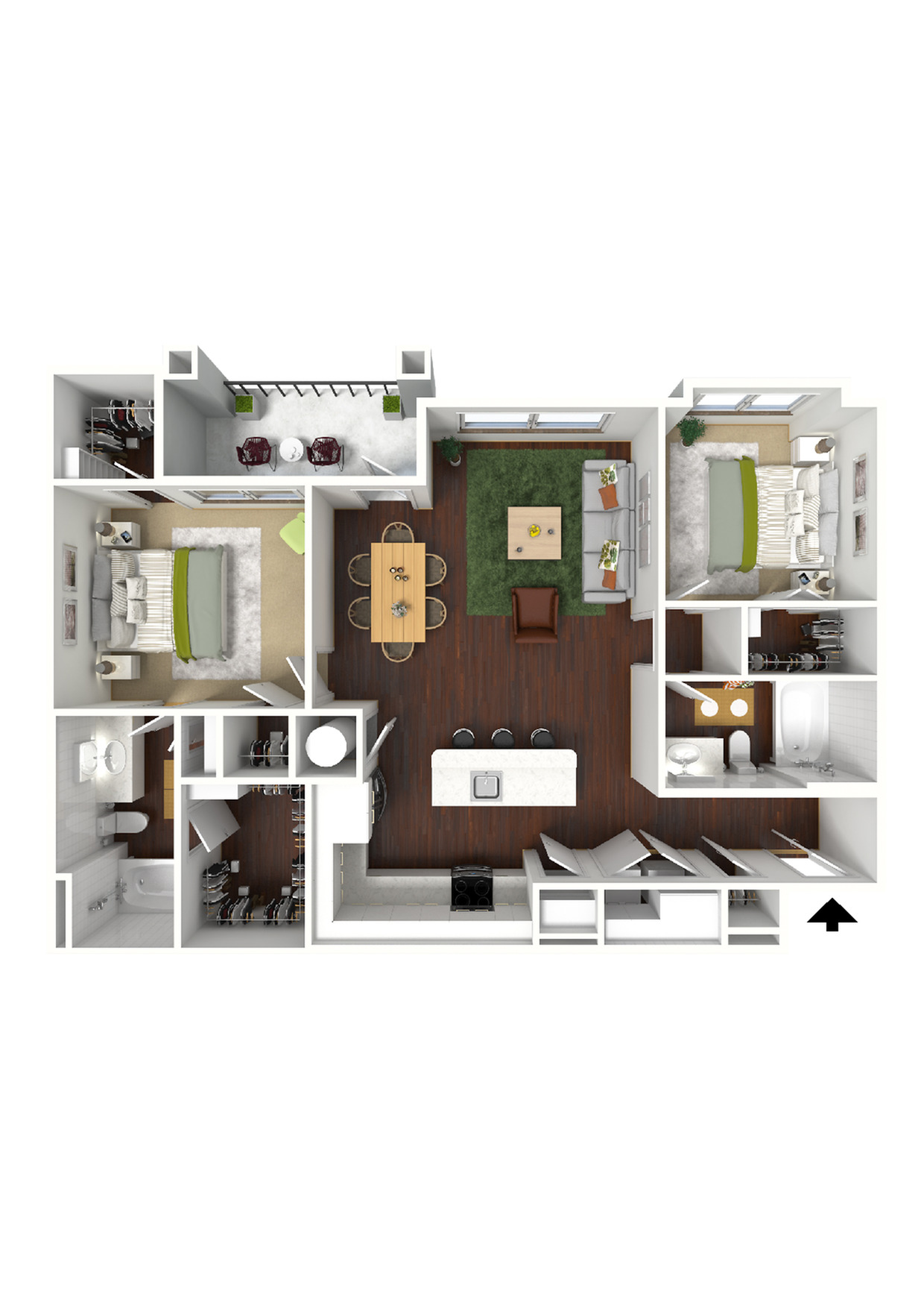 Clayton 3D Furnished View