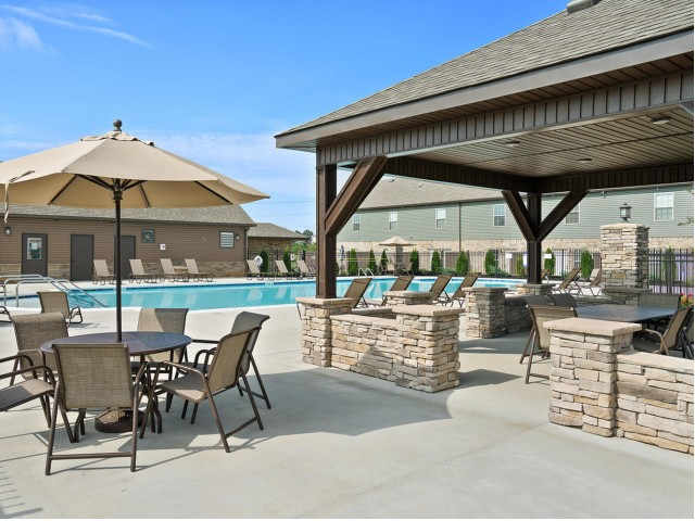 Image of Poolside Dining Area for Ashton Ridge at West Creek