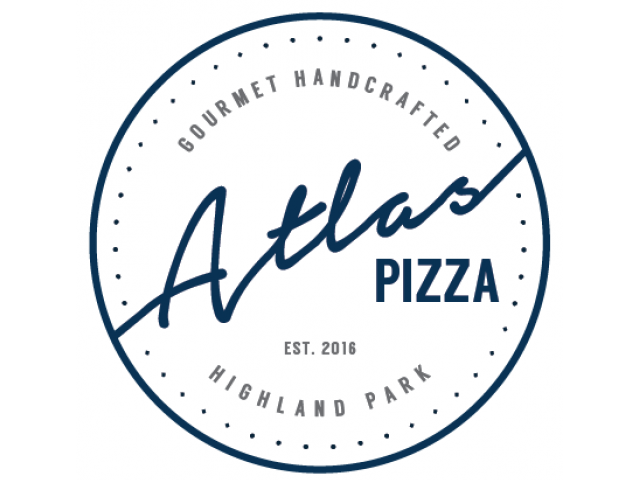 Enjoy Our Atlas Gourmet Pizza, With View of Logo at The Marq Highland Park Apartments