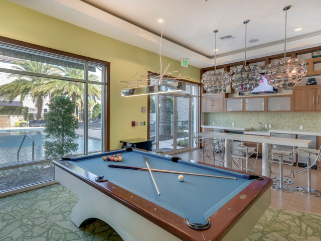 Image of Game Room with Billiards and Shuffleboard for The Marq Highland Park