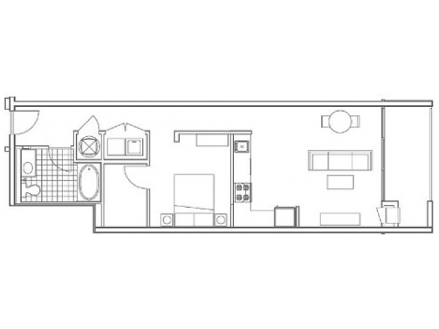 A6.1 Echo Alternate 1 Bedroom Apartment at 935M