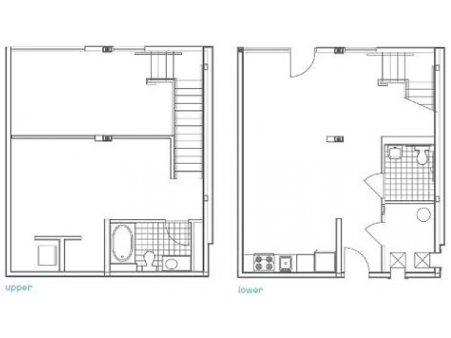 W1 Defoors Floor Plan | 1 Bedroom with 2 Bath | 1080 Square Feet | 935M | Apartment Homes