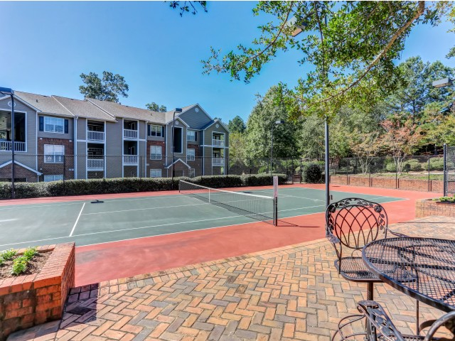Image of Lighted Tennis Court for Retreat at Peachtree City