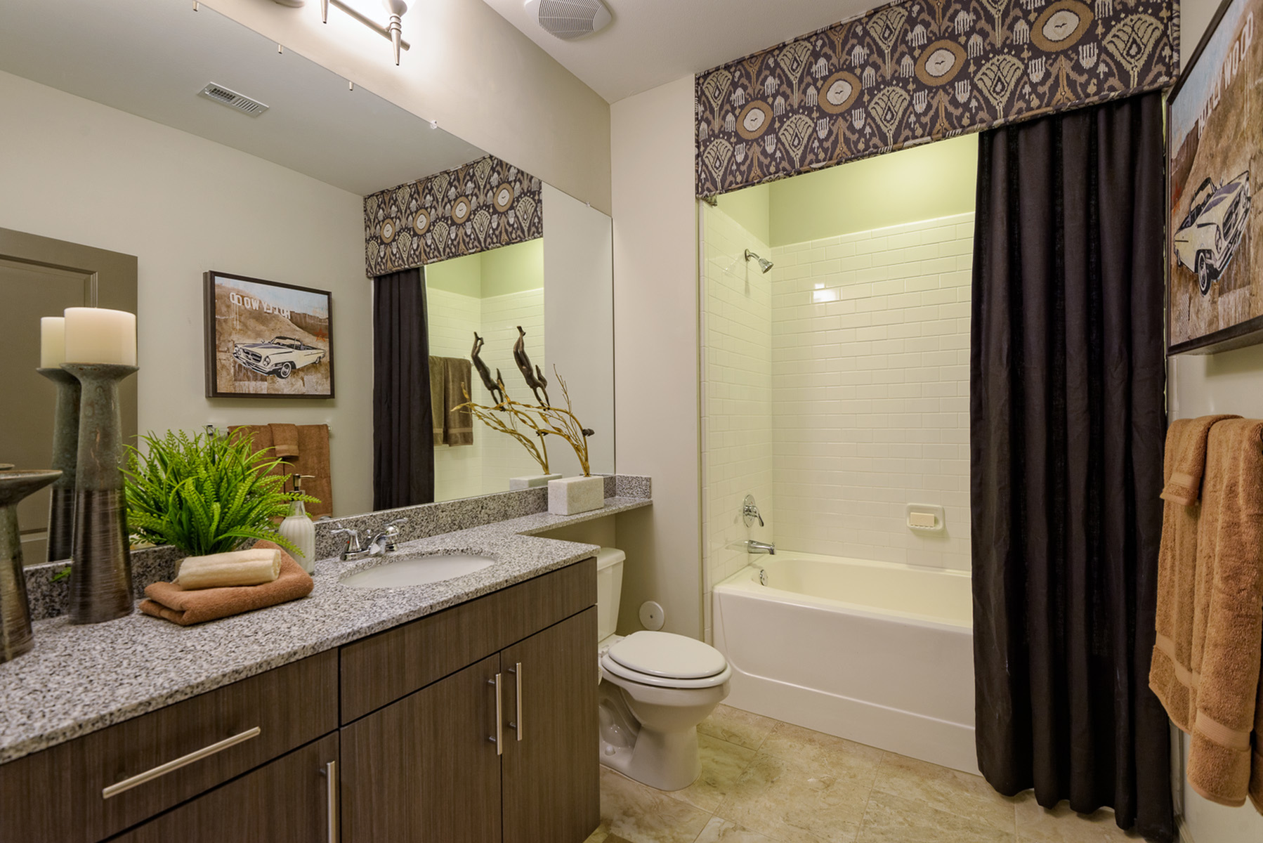 View of Bathroom, Showing Single Vanity and Granite Countertop at Heights at Meridian Apartments