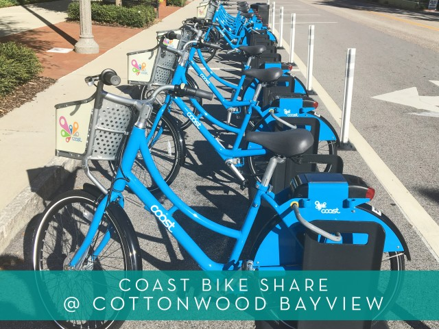 Featured Amenity | Coast Bike Share | Bicycle Sharing Service | Cottonwood Bayview Apartments