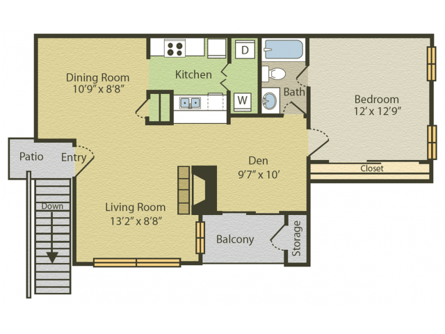 1 & 2 Bed Apartments | Spring Pointe
