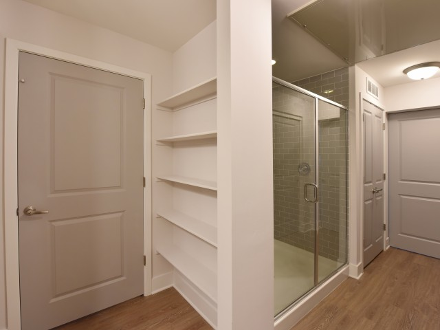 Image of Tile Showers with Glass Doors for The Stetson