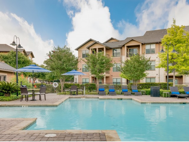 Image of Resort-Inspired Pool with Sundeck and Cabanas for Legacy Heights