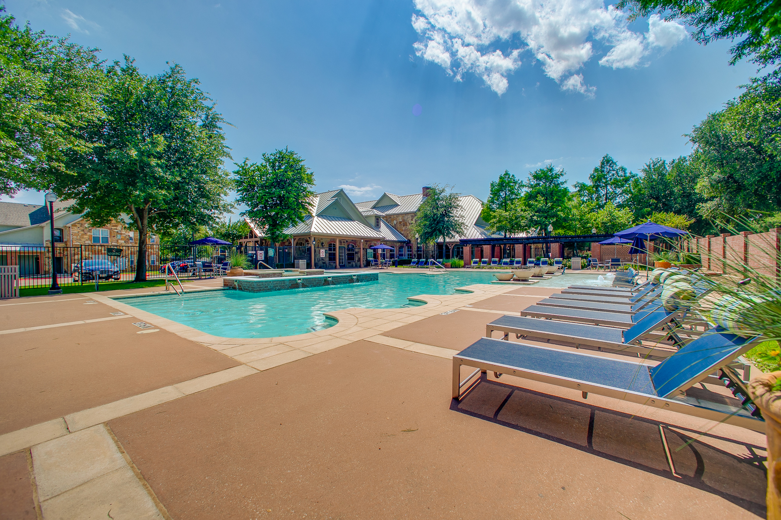 Image of Resort-Inspired Pool with Sundeck and Cabanas for Bluffs at Vista Ridge