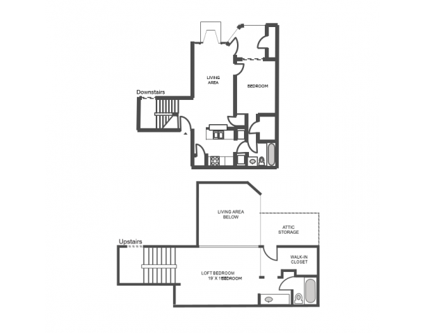 Willow Classic Floor Plan | 2 Bedroom with 2 Bath | 1139 Square Feet | The Arbors of Las Colinas | Apartment Homes