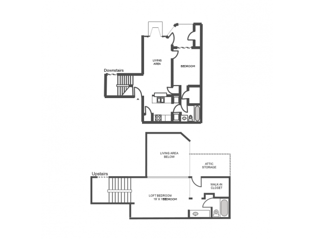 Willow Floor Plan | 2 Bedroom with 2 Bath | 1139 Square Feet | The Arbors of Las Colinas | Apartment Homes