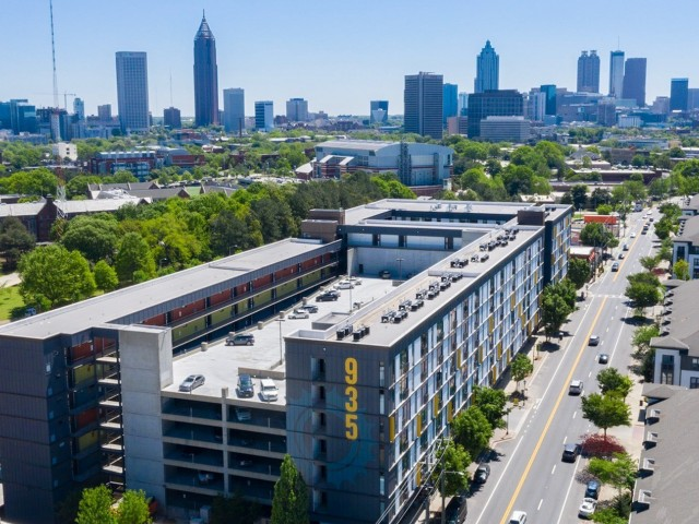 Enjoy Our Near Georgia Tech, With View of Aerial View of West Midtown Atlanta and Skyline at 935M Apartments