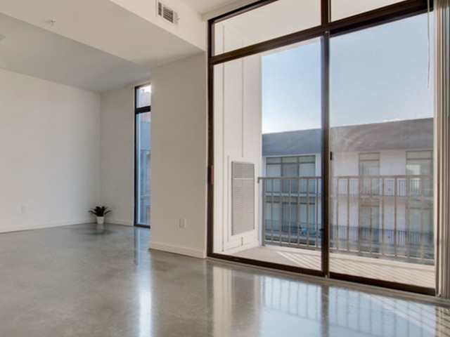 Floor to ceiling windows at west midtown apartment
