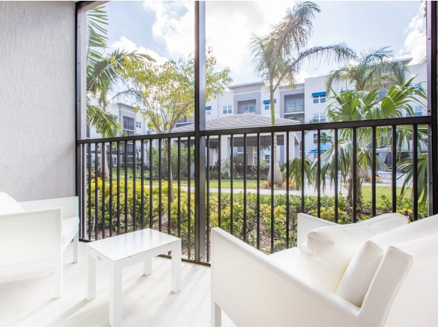 Image of Private Screened In Patio or Balcony for Cottonwood West Palm Apartments