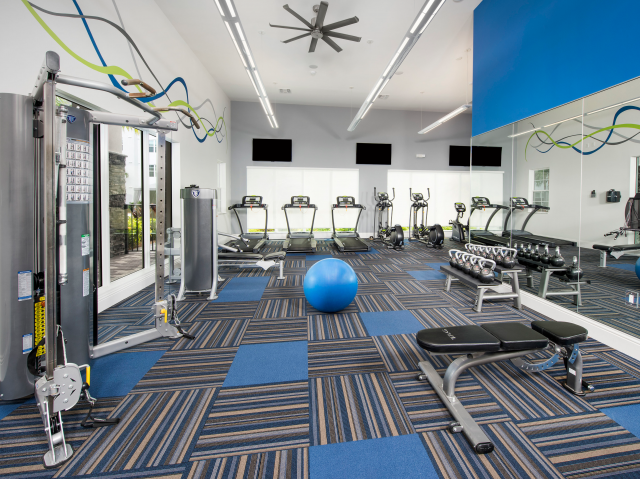 Image of 24-Hour Fitness Center for Cottonwood West Palm Apartments