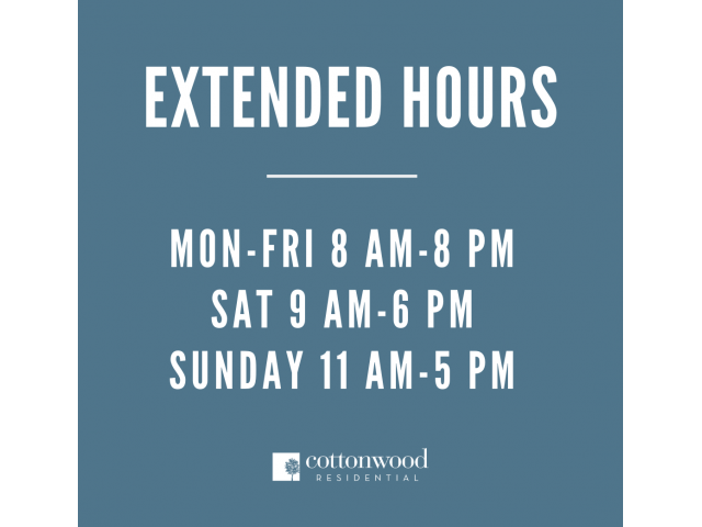 Enjoy Our Extended Hours, With View of More Open Hours for Residents and Guests for Customer Service at Bluffs at Vista Ridge Apartments