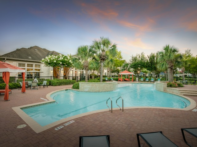 Image of Resort-Inspired Pool with Sundeck and Cabanas for Retreat at Stafford