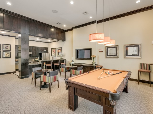 Image of Clubhouse with Billiard Table and Wi-Fi Lounge for Retreat at Stafford
